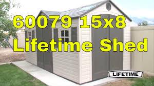 lifetime garden sheds 60079 15 x 8 ft dual entry plastic storage