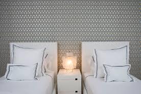 Hexagon Wallpaper Contemporary bedroom Haus Interior