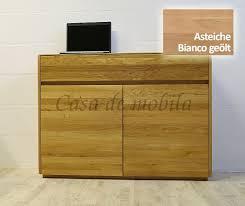 sideboard 120x88x42cm nyon 2türig rustikale asteiche bianco geölt gerundete form casade mobila