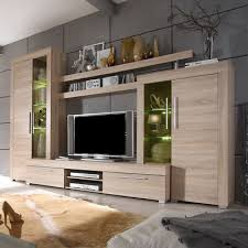wohnwand anbauwand wohnzimmerset can can inkl beleuchtung