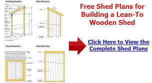 How To Build A Lean To Shed Plans Free by 10 X 12 Shed Plans Choosing The Right Shed Blueprints Garden