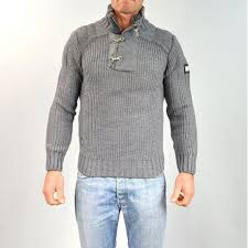 pull homme col montant gris gg