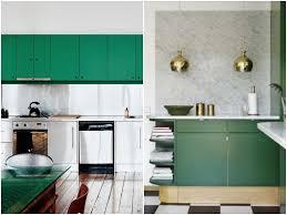 meuble cuisin cuisine verte mur meubles électroménager déco clematc