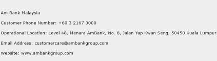 Am Bank Malaysia Phone Number Customer Service