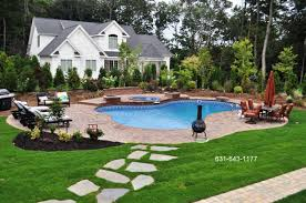 Landscaped Backyard Design With Free Form Vinyl Pool, Spillover ... Download Landscape Backyard Design Garden Interior Pergola Design Ideas Faedaworkscom Tool Small Square Landscaping Ideas Best Virtual Free Yard Plans Gallery 17 Designs Decor Remarkable Pictures Pics Pergola With Tips For Beautiful Simple Wonderful 12 Landscape Backyard Abreudme