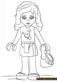 Olivia Lego Friends Coloring Page
