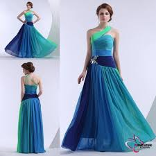 Tempting Latest Fashion Crystal Beaded Shoulder A Line Floor Length Chiffon Evening Dress 2014 Color Combinations Free Shipping In Dresses From