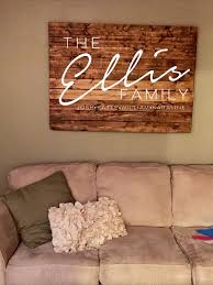 Love For The Living Room Rustic Home Decor Wooden Family Name Sign