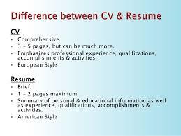 Resume Vs Cover Letter 5 Cv