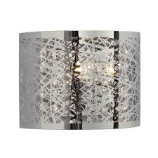 Laser Cut Lamp Shade by 1 Light Wall Sconce In Polished Chrome Laser Cut Metal Shade