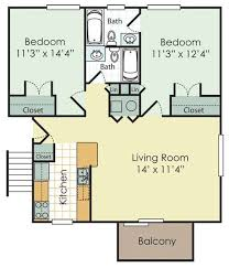 1000 square foot 2 bedroom house plans home deco plans