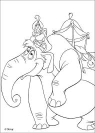 Horses In Th Sky Aladdins Elephant Coloring Page