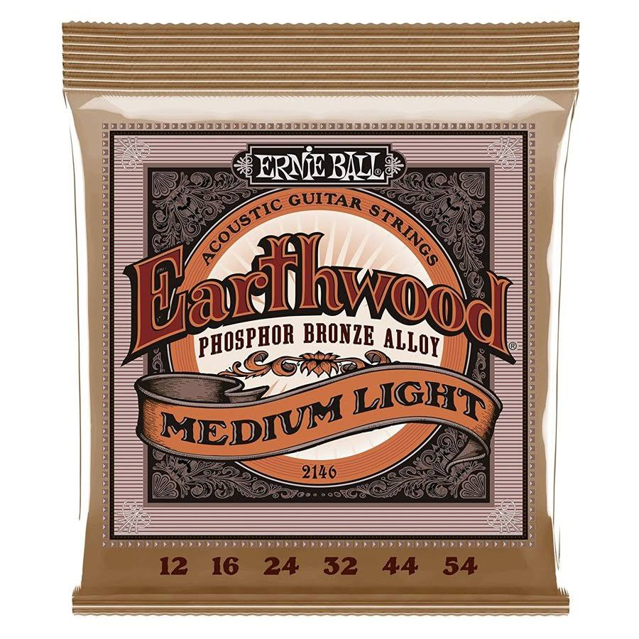 Ernie Ball Earthwood Acoustic Phosphor Bronze String Set - Medium Light, 12-54