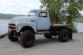 My 1954 Chevy 1 Ton 4x4 Flatbed Vintage Truck I Built. 42