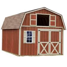 12x16 Storage Shed With Loft Plans by Best Barns Millcreek 12 Ft X 20 Ft Wood Storage Shed Kit