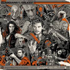 Incredible Metal Guardians Of Galaxy Poster Gifted To James Gunn By Marvel