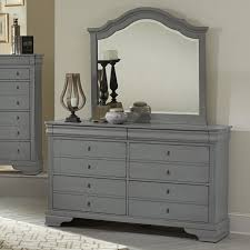 Vaughan Bassett Dresser With Mirror by Vaughan Bassett French Market Dresser U0026 Arched Mirror Rooms And