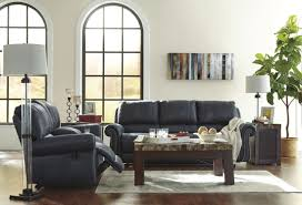 Ashley Larkinhurst Sofa And Loveseat by Milhaven Navy Reclining Sofa From Ashley Coleman Furniture