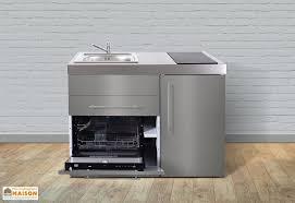 cuisiner avec l induction mini cuisine inox avec frigo l v et induction mpgses 120 meubles