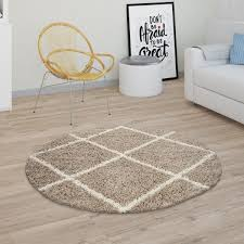 living room rug pile shaggy scandi yellow