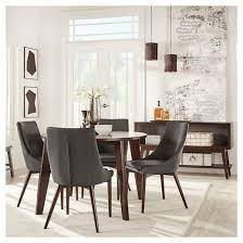 sullivan mid century round dining table wood espresso inspire q
