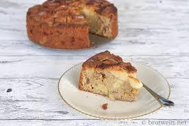 apfelkuchen mit walnüssen und zimt brotwein