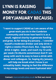 100 Cadas On Twitter Lynn Is Taking Part In Our DryJanuary Campaign