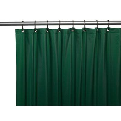 Carnation Home Fashions 3 Gauge Vinyl Shower Curtain Liner with Metal Grommets - Evergreen