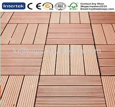 DIY Tile WPC Outdoor Decking Floor Plastics Wood Texture Waterproof New Material
