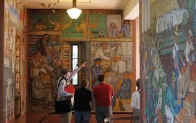 Coit Tower Murals Images by Coit Tower Shuts For Repairs High Time Critics Say Sfgate