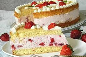 vanille erdbeer torte à la käse sahne