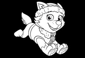 Everest Coloring Page PAW Patrol