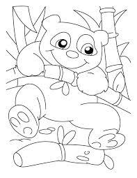 Good Climber Panda Coloring Pages