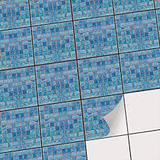 aufkleber für fliesen i fliesensticker vinyl mosaikfliesen i selbstklebende dekorfolie zur wandgestaltung bad u küchenfliesen fliesenmuster i