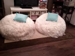 Baby Nursery White Pb Bean Bag Design Idea Double Small Fur