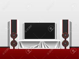 100 Bright Home Theater Modern Home Theater From A Flat TV And Music Speakers In A Clean