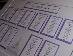 seating plans and place cards