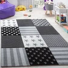 Check Carpet by Kids Star Rug Grey Check Play Room Carpet Bedroom Mat Small X