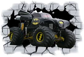 100 Monster Trucks Crashing Moster Truck Murals On Builtings Huge 3D Batman Truck