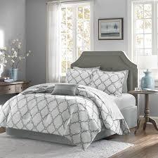 shop madison park essentials merritt bed linens grey the home