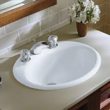 Kohler Overmount Bathroom Sinks by Kohler Farmington Metal Oval Drop In Bathroom Sink With Overflow
