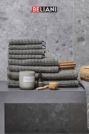 badehandtuch baumwolle grau 9er set in 2021 handtücher set