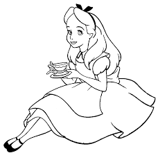 Alice Coloring Pages 6