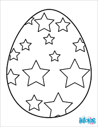 Striped Easter Egg Colorful Chocolate Coloring Page