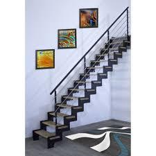 barriere escalier leroy merlin escalier droit crémaillère structure acier marche bois lamellé