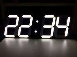 Image Is Loading Big 3D Digital LED Wall Clock Modern Design