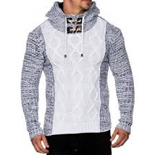 pull homme gros col roulé blanc blanc blanc achat vente pull