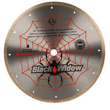 qep 10 in black widow micro segmented diamond blade for porcelain