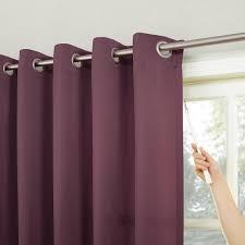 Curtain Rod Brackets Kohls by Sun Zero Gramercy Room Darkening Patio Door Window Panel 100 U0027 U0027 X