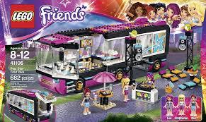 Shopko Christmas Tree Storage by Amazon Com Lego Friends 41106 Pop Star Tour Bus Building Kit